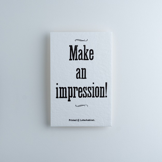 Letterkabinet, Kaartje 'Make An Impression' 1