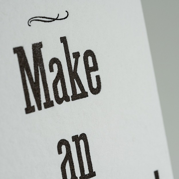Letterkabinet, Kaartje 'Make An Impression' 2
