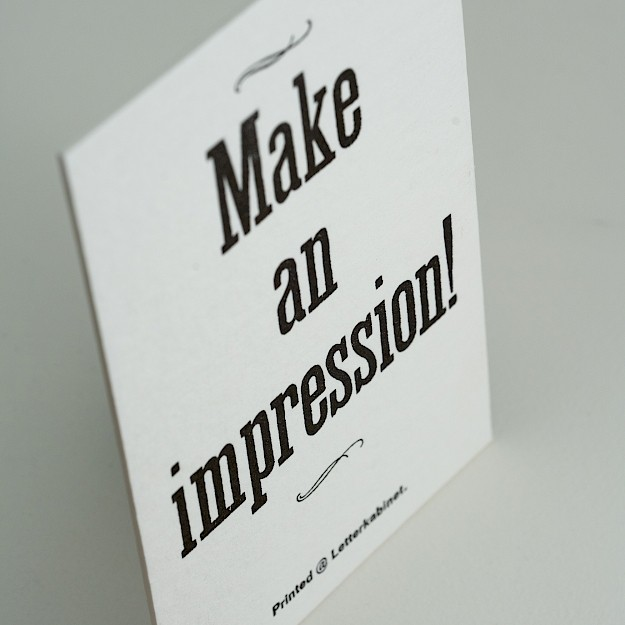 Letterkabinet, Kaartje 'Make An Impression' 4